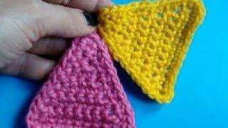 getlinkyoutube.com-Вязание крючком - Урок 210 - Треугольник - Howto crochet triangle motif