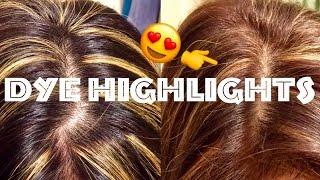 getlinkyoutube.com-😜Best Hair Dye Quick Review at Home Highlights/Dark Hair by L'Oreal UL63 Warmer Hi-Lift Golden Brown