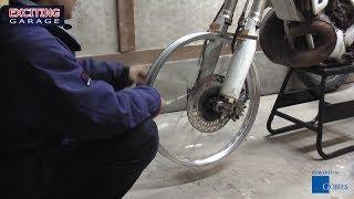 getlinkyoutube.com-#07 エキセルリムの芯出し | サビだらけのスポークホイルを交換するとバイクの価値が数段UP!