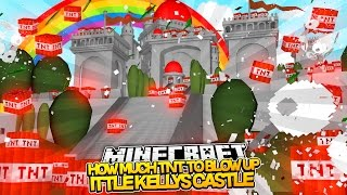 getlinkyoutube.com-Minecraft - HOW MUCH TNT TO BLOW UP LITTLE KELLY'S CASTLE??
