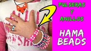getlinkyoutube.com-Pulseras y anillos de hama beads