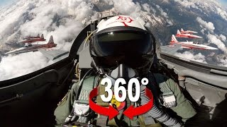 getlinkyoutube.com-360° cockpit view | Fighter Jet | Patrouille Suisse | Virtual Reality