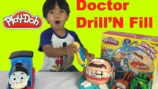 getlinkyoutube.com-Play Doh Doctor Drill N Fill Playset Dentist with Thomas and Friends Ryan ToysReview