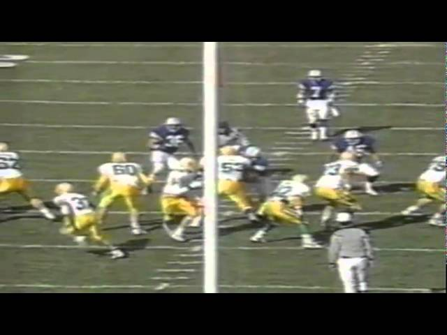 Oregon WR Joe Reitzug 22 yard catch vs. BYU 11-04-1989