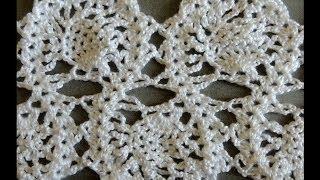 getlinkyoutube.com-Crochet : Punto Entrelazado # 7.  Parte 1 de 2