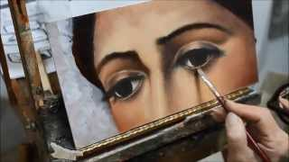 getlinkyoutube.com-Cómo pintar ojos al oleo - Tutorial