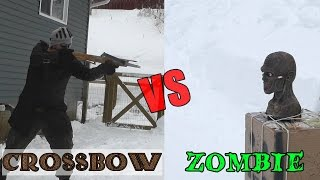 getlinkyoutube.com-45 lb Scythian bow and medieval crossbow vs. zombie head