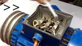 Kako prespojiti trofazni motor na monofaznu struju // How to connect three-phase