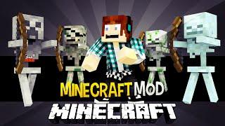 getlinkyoutube.com-Minecraft: Irmão do herobrine ?! ( Esqueleto Herobrine, Esqueleto Creeper) - Mo Skeletons Mod
