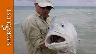 """getlinkyoutube.com-Fly Fishing For GT's On Christmas Island """"Mind Blowing Action"""""""