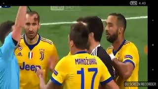 Penalty!!!  real Madrid vs juventus 1-3 red card buffon champion league 2018