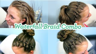 getlinkyoutube.com-Waterfall Braid Combo | Cute Girls Hairstyles