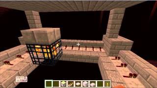 getlinkyoutube.com-【minecraft】ブレイズトラップの作り方!!【感圧ピストン式】