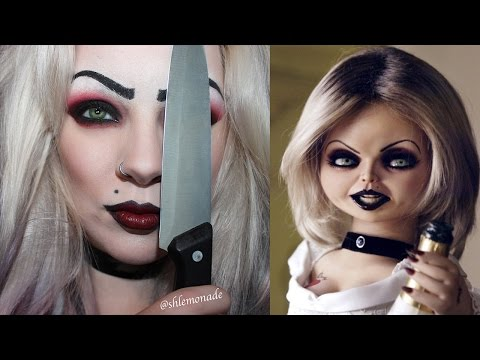HALLOWEEN: Bride of Chucky / Tiffany Makeup Tutorial | shlemonade
