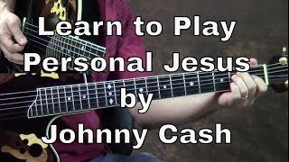 getlinkyoutube.com-How To Play Personal Jesus Guitar Lesson by Johnny Cash