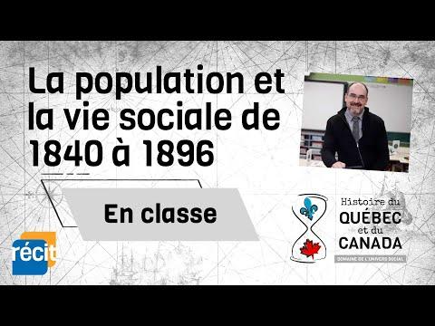 La population et la vie sociale de 1840 à 1896