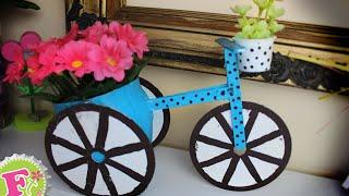 getlinkyoutube.com-Florero en forma de Bicicleta para MAMÁ! // Floritere