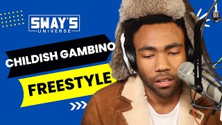 """getlinkyoutube.com-Childish Gambino Spits Dope Freestyle Over Drake's """"Pound Cake"""" on Sway in the Morning"""