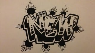 getlinkyoutube.com-How to draw graffiti Letters - New Style 2012