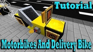 getlinkyoutube.com-Minecraft Tutorial Of Motorbikes And Delivery Bike
