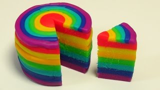 getlinkyoutube.com-Play Doh Rainbow Cake! How to make a Rainbow Cake! Make a Play Doh Rainbow Cake!