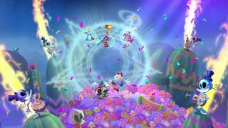 getlinkyoutube.com-Rayman Legends - 2 Players All Musical levels