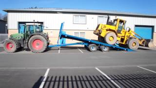 FARM AGRICULTURAL HAY & STRAW BALE TRAILER PLANT LOW LOADER TILT TRAILER ITWFBT0001