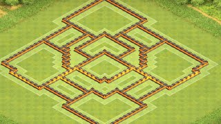 getlinkyoutube.com-Clash of clans Rathaus 10 Trophy Base/RH 10 CK Dorf I Clash of Bases