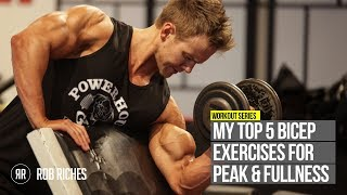 getlinkyoutube.com-TOP 5 Bicep Peak Exercises | Rob Riches