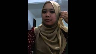 getlinkyoutube.com-Tutorial buat tudung 4 segi jadi shawl