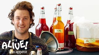How to Brew Your Own Kombucha with Brad | It's Alive | Bon Appetit width=