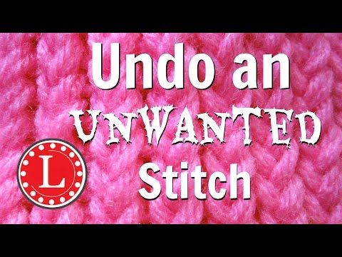 LOOM KNITTING Undo Unwanted Stitch - Unravel loom knit stitches - Tink  - Not Frog