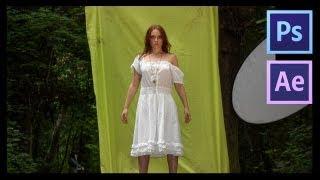 getlinkyoutube.com-After Effects Tutorial | 2D image into a 3D scene