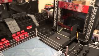 getlinkyoutube.com-WWE Custom Raw Arena Playset SUPER HUGE! (A MUST SEE)