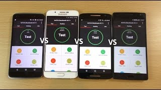 getlinkyoutube.com-OnePlus Two VS Moto X Play VS Galaxy A8 VS Idol 3 - Benchmark Speed Test!