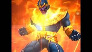 getlinkyoutube.com-World boss Thanos 5 teams, Thanos five teams, Worldboss raid - Marvel Future Fight