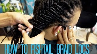 getlinkyoutube.com-How to do a Fishtail Braid on LOCS
