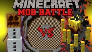 getlinkyoutube.com-Blaze Vs Snow Golem - Minecraft Mob Battles