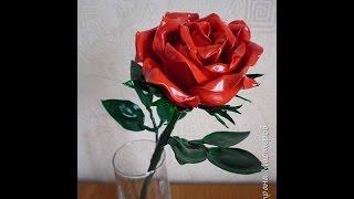 getlinkyoutube.com-Как сделать розу из пластиковых ложек.How to make a rose out of plastic spoons.