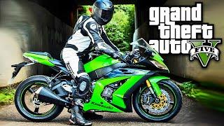 getlinkyoutube.com-GTA V Moto Kawasaki Ninja 2015