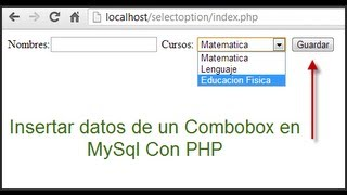 getlinkyoutube.com-Insertar datos de un combobox a MySql con PHP