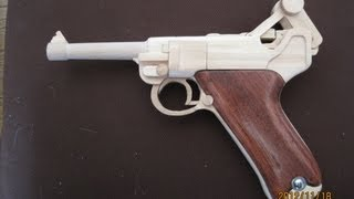 getlinkyoutube.com-BLOW⇔BACK RUBBER BAND GUN 03.0 LUGER P08 4inch
