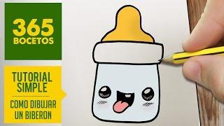 getlinkyoutube.com-COMO DIBUJAR UN BIBERON KAWAII PASO A PASO - Dibujos kawaii faciles - How to draw a bottle