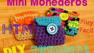 getlinkyoutube.com-Mini Monederos: TEJIDO A CROCHET !! HTM !!! HAZLO TU MISM@ !!!! Coin Purse