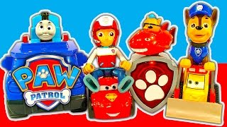 getlinkyoutube.com-Paw Patrol Lookout Playset HQ With Thomas Octonauts Transformers & Dinosaur Attack