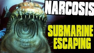 Narcosis - FINDING INSANE SEA MONSTER, SUBMARINE ESCAPING - (Narcosis Gameplay)