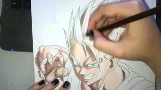getlinkyoutube.com-Speed Drawing - Gohan (Dragon Ball Z)