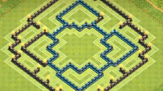 getlinkyoutube.com-Clash of Clans: NEW BEST TH9 Air Sweeper Farming Base! ll (MID) May 2015