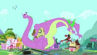 getlinkyoutube.com-My Little Pony FIM: Spike the Dragon Rampage (Godzilla Style) HD