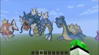 getlinkyoutube.com-Minecraft Pokemon Pixel Art Kanto 151 [+Download]